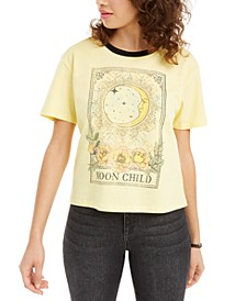 Juniors' Cotton Moon Child Graphic T-Shirt