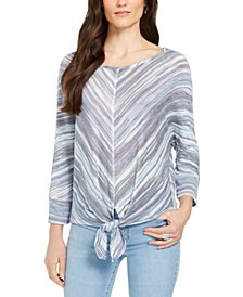Stripe Front-Tie Top, Created for Macy's