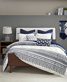 Mila 3-Piece Full/Queen Printed Duvet Cover Set