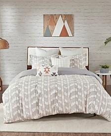 Suri 3-Piece Full/Queen Cotton Jacquard Duvet Cover Set