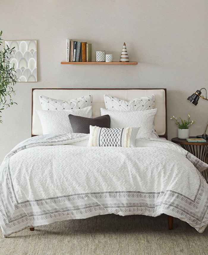 INK+IVY - INK+IVY Mill Valley 3-Piece Full/Queen Reversible Duvet Cover Set