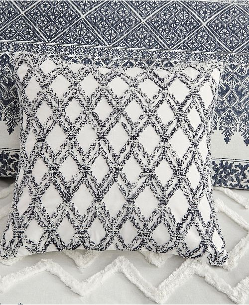 """Ink Ivy Gregory Cotton Embroidered Square Pillow: INK+IVY Riko 20"""" X 20"""" Cotton Embroidered Decorative"""