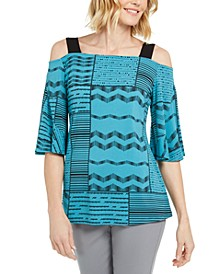 Printed Cold-Shoulder Tunic, Created for Macy's