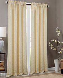 "Kayla Floral Textured Jacquard 53"" x 84"" Curtain Panel"