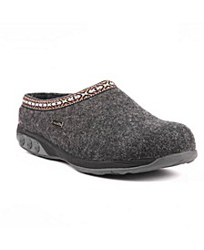 Shoe Heather Indoor/Outdoor Wool Clog Slipper