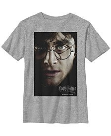 Harry Potter The Deathly Hallows Poster Little and Big Boy Short Sleeve T-Shirt