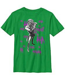 DC Comics Little and Big Boys Batman the Joker HAHA Short Sleeve T-Shirt