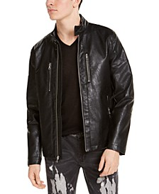 INC Men's Mateo Faux Leather Moto Jacket, Created for Macy's