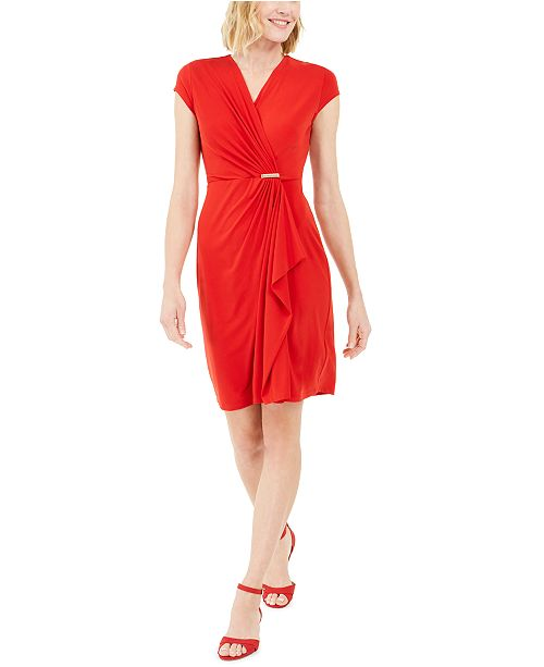 Charter Club Knit Cap-Sleeve Crossover Dress, Created for Macy's