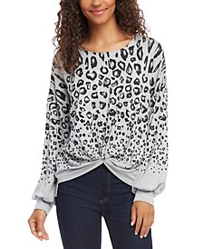 Printed Twist-Hem Top