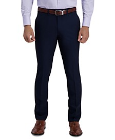 Men's Slim-Fit 2-Way Stretch Mini-Check Dress Pants