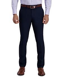 Men's Slim-Fit 2-Way Stretch Mini-Check Dress Pants