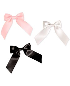 3-Pc. Satin Bow Barrettes Set