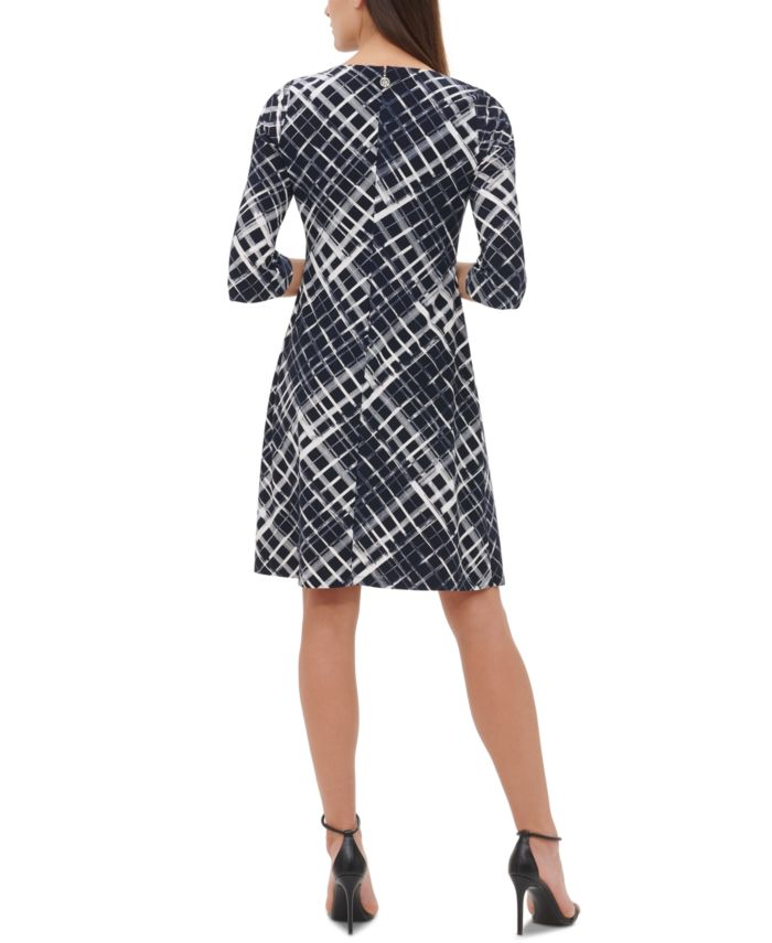 Tommy Hilfiger Plaid Jersey A-Line Dress & Reviews - Dresses - Women - Macy's