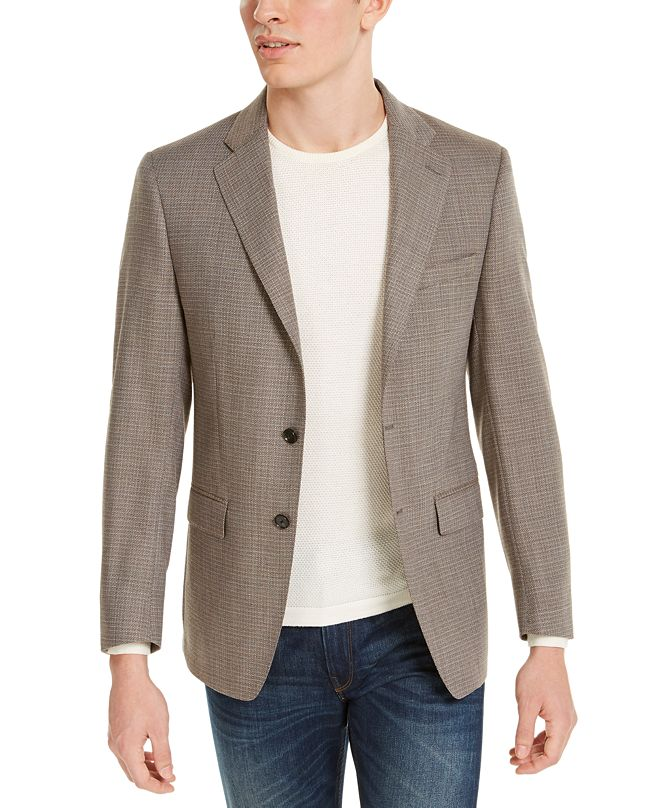 Calvin Klein Mens Slim-Fit Wool Sport Coat