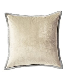 Velvet With Metallic Stitch Decorative Pillow