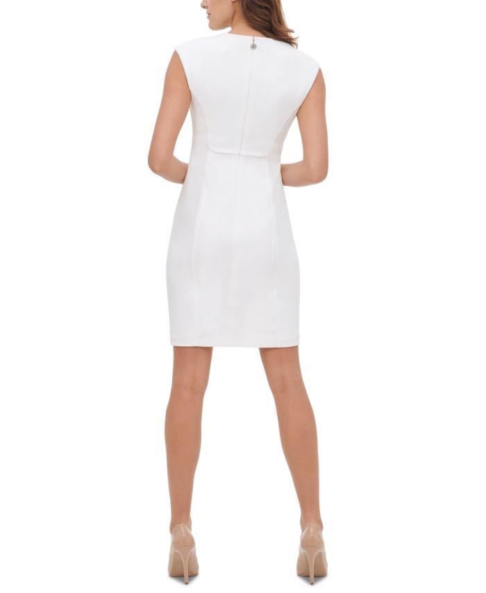 Tommy Hilfiger Side-Ruched Sheath Dress  & Reviews - Dresses - Women - Macy's