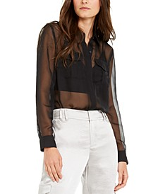 INC Sheer Utility Shirt, Created for Macy's