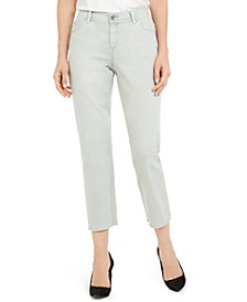 INC Frayed-Hem Straight-Leg Ankle Jeans, Created For Macy's