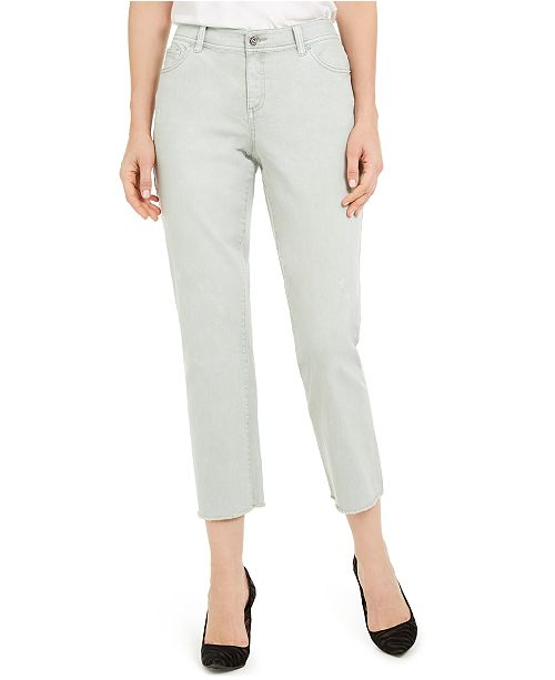 INC International Concepts INC Frayed-Hem Straight-Leg Ankle Jeans, Created For Macy's