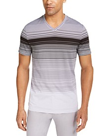 Men's Ombre Striped V-Neck T-Shirt, Created for Macy's