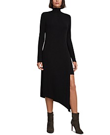 Kabrina Asymmetrical Turtleneck Dress