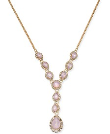 """Crystal & Stone Lariat Necklace, 17"""" + 2"""" extender, Created for Macy's"""