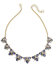 """Gold-Tone Crystal & Stone Cluster Necklace, 17"""" + 2"""" extender, Created For Macy's"""