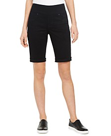 Petite Ella Cuffed Bermuda Shorts, Created for Macy's