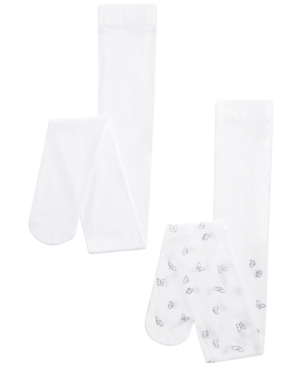 Trimfit Toddler, Little & Big Girls 2-Pk. Butterfly Tights