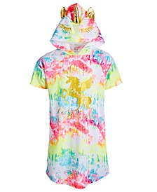 Big Girls Tie-Dyed Unicorn Hood Nightgown