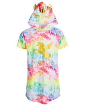Max & Olivia Big Girls Tie-Dye Unicorn Hood Nightgown