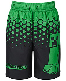 Little Boys Minecraft Swim Trunks