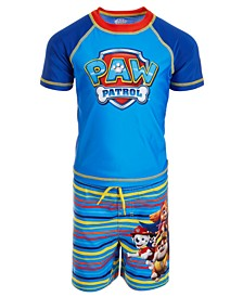 Toddler Boys 2-Pc. Paw Patrol Rash Guard & Swim Trunks Set