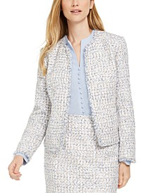 Petite Fringed Tweed Jacket