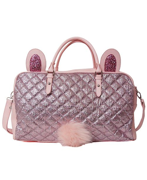 OMG! Accessories Glitter Bunny Duffle Bag