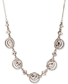 """Crystal Halo Statement Necklace, 16"""" + 3"""" extender"""