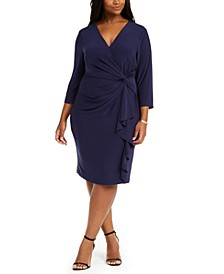 Plus Size Ruched Jersey Dress