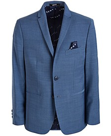 Solid Blue Suit Jacket, Big Boys