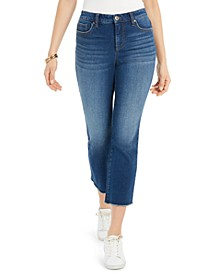 Ripped Authentic Cropped Kick-Flare Jeans, Created for Macy's