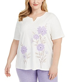 Plus Size Nantucket Embroidered T-Shirt