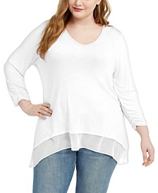 Plus Size Layered-Hem Tunic, Created for Macy's