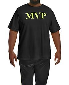 MVP Collections Men's Big & Tall Neon Logo T-Shirt