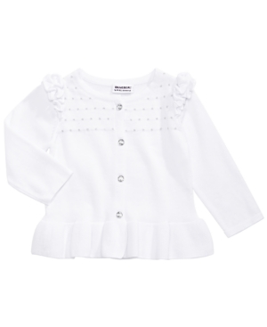 Blueberi Boulevard Little Girls Cotton Ruffled Cardigan