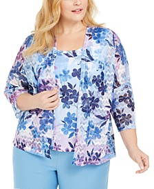 Plus Size Layered-Look Top