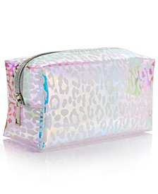 Leopard-Print Holographic Cosmetics Bag, Created for Macy's