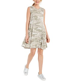 Printed Flared Sleeveless Dress, Created for Macy's