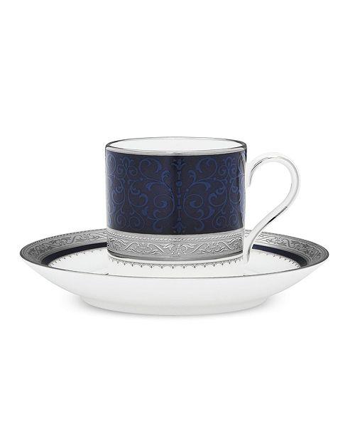 Noritake Odessa Cobalt Platinum After Dinner Cup & Saucer