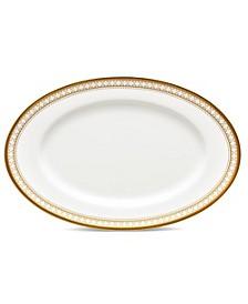 "Trefolio Gold Butter/Relish Tray, 8-3/4"""