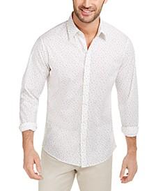 Men's Slim-Fit Stretch Confetti-Print Shirt